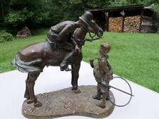 """Fine Bronze By KENNETH OTTINGER Fine Artist Policeman on horse w/boys only 3/12"