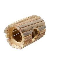 Tubo de Túnel de Madera cueva de nido de madera casa para ratones JERBOS HÁMSTERES Choza