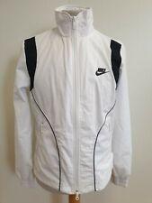 Neues AngebotO804 Damen Nike Weiß Schwarz Volle Reißverschluss Trainingsanzug Jacke UK 10-12 Bnwt