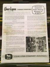 Char-Lynn Power Steering Install & Parts Manual Ih International Farmall M Mta