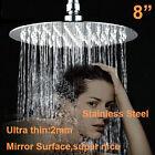 "8"" Round Rainfall Rain Shower Head Sprayer Chrome shower room Stainless Steel"