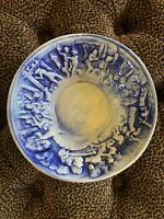 "Vintage Pottery 18th Century Europa Ceramic Serving Bowl EUR 8.5"" Across 3"" Deep"