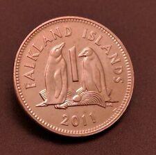 VERY RARE 2011 FALKLAND ISLANDS 1P ONE PENCE COIN HUNT BUNC