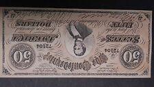 Richmond confederate bill $50.00 1864 banknote dollar facsimile