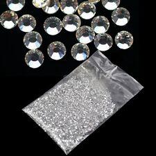 20000Pcs 1.5mm 3D Round Rhinestone Acrylic Nail Art Glitter Crystal Decor OK