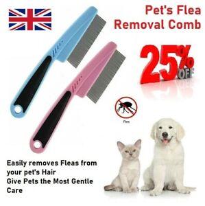 Pet Touch Branded Fine Flea Dog Cat Comb Metal Teeth Healthy Fur Non Slip Handle