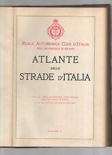 reale automobile club d italia - atlante delle strade d italia - edizione 1934
