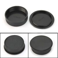 42mm Plastic Front & Rear Cap Cover For M42 Digital Camera Body and Lens Black。