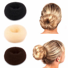 WOMEN HAIR DOUGHNUT BUN RING SHAPER DONUT STYLE UPDO COFFE