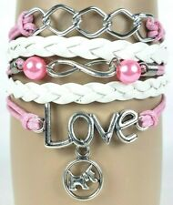 Puppy Love Letters  Dog Chain Infinity Layer Wrap Bracelet