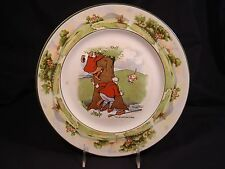 """Golf Plate """"One Up & One to Play"""",  10 3/8"""" dia, c. 1907 Warwick Ware"""