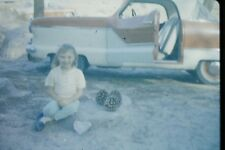 #5 35mm slide - Vintage - Collectibles - Photo -  car pose cute girl smile