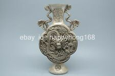 Chinese tibet silver carved buddha figurines