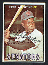 Fred Valentine #64 signed autograph auto 1967 Topps Baseball Trading Card