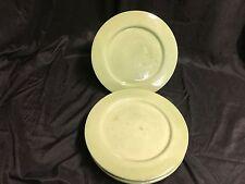 "Barbara Eigen Arts Pottery ~ Signed ""B Eigen USA"" ~ Set of 4 ~ Dinner Plates"