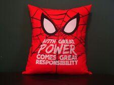 Reading Book Pillow Spider-Man, Pocket Pillow,Child Pillow