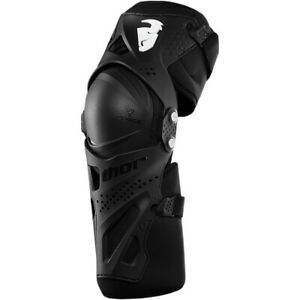 Thor Force XP Motocross MX Off Road Adult Knee Guards Black