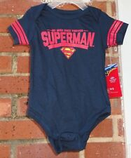 Brand New DC Comics Superman My Hero Since Forever Snap Bodysuit 6-9 months
