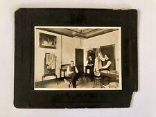 Antique Victorian Tailor Shop Photograph Cabinet Card Albumen ? Store Fashion