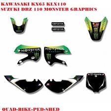 3M MONSTER KLX GRAPHICS KAWASAKI KLX110 KX65  KX 65 KZR STICKERS GRAPHIC DECALS