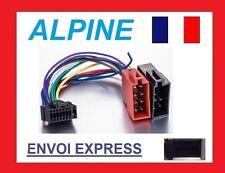 CABLE ISO AUTORADIO ALPINE 16PIN FAISCEAU COMPLET CDA-9807 9811R 9812RB NEUF
