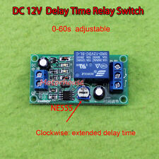 DC 12V Adjustable 0~60 Second Time Delay Switch Timer Relay Turn OFF PLC Module