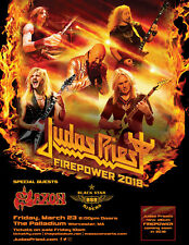"Judas Priest/Saxon ""Firepower 2018"" Worcester,Ma Concert Tour Poster-Heavy Metal"