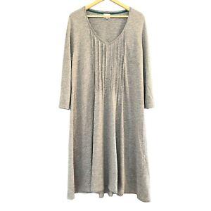 EAST Jumper Tunic Dress Grey Size 18 Wool Blend Fine Knit Knitwear Autumn Winter