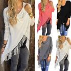 Fashion Womens Loose Casual Long Sleeve T-Shirt Cotton Blouse Tops T-Shirt
