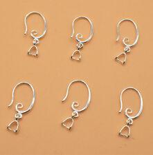 50Pcs DIY Silver Hook Earring Earwire Jewelry Finding Pinch Wholesale