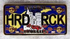 HARD ROCK CAFE BRUSSELS BELGIUM LICENSE PLATE SERIES PIN # 83576