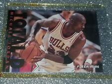 """Michael Jordan Chicago Bulls HOF 1995-96 Fleer """"TOTAL D"""" Foil Insert 🏀👀🔥NR-M"""