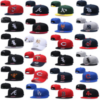 New Embroidered Basketball Hat All Teams Logo Flat Brim Adjustable Snapback Cap