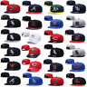 New Embroidered Basketball Hat All Teams Logo Flat Brim Adjustable Snapback Cap