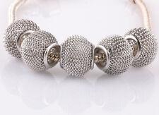 5pcs gray gauze hollow big hole spacer beads fit Charm European Bracelet #C944
