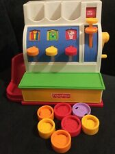 Fisher Price Toy Cash Register with 7 Coins, Vintage 1994