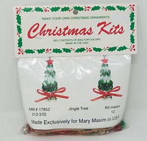 Jingle Arbre Noël Ornement Perlage Kit Artisanat Mary Maxim Merri Mac Vintage