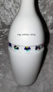 Keulengummi STRASSDEKO Strassgummi für RSG KEULEN weiß SS30 crystal AB Gr.klein