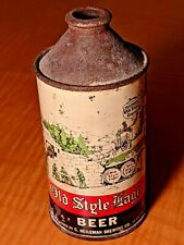 Conetop Beer Can Old Style Lager Beer Opening Bid One Cent