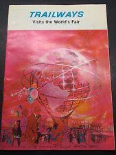 1964-65 New York Worlds Fair Souvenir Unisphere Trailway Special Issue #WF64 jbv
