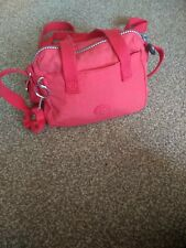 Kipling Small Red Cross Body Bag - Used - With Jeanine Monkey