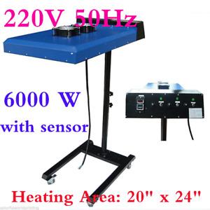 AU 50cm×60cm Automatic SilkScreen Printing IR Flash Dryer with Sensor 220V 6000W