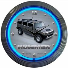AM General Motors Hummer with Blue Neon Great for Garage, Office or Man Cave