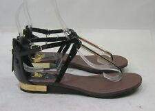 Summer Black Womens Shoes Roman Gladiator Sandals Size 8.5
