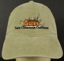 Twin Chimneys Outfitters Green Baseball Hat Cap with Cloth Strap Adjust