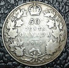 1912 CANADA - 50 CENTS SILVER - George V - Titanic era