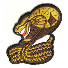 Embroidered Cobra Sew or Iron on Patch Biker Patch