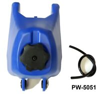 Blue FUEL PETROL TANK FOR YAMAHA PW50 PW-50 PEEWEE PY 50 DIRT Bike MotorBike E3