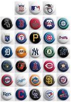 "MLB - Baseball pinback buttons - sports team pin badges - 33 total 1"" pins"
