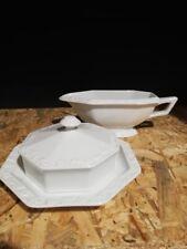 "2 piece set Saucière beurre /Beurrier Rosenthal ""Maria White"" Salsiera/ Burriera"